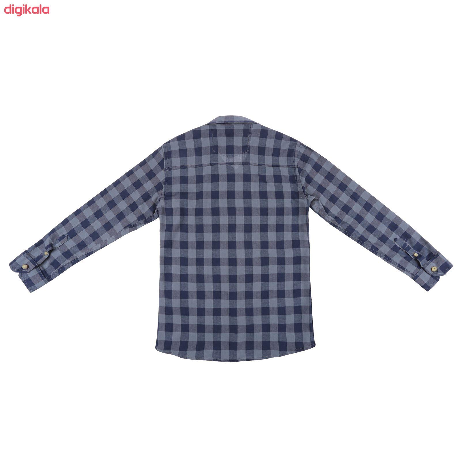 پیراهن پسرانه ناوالس کد D-20119-GY main 1 2