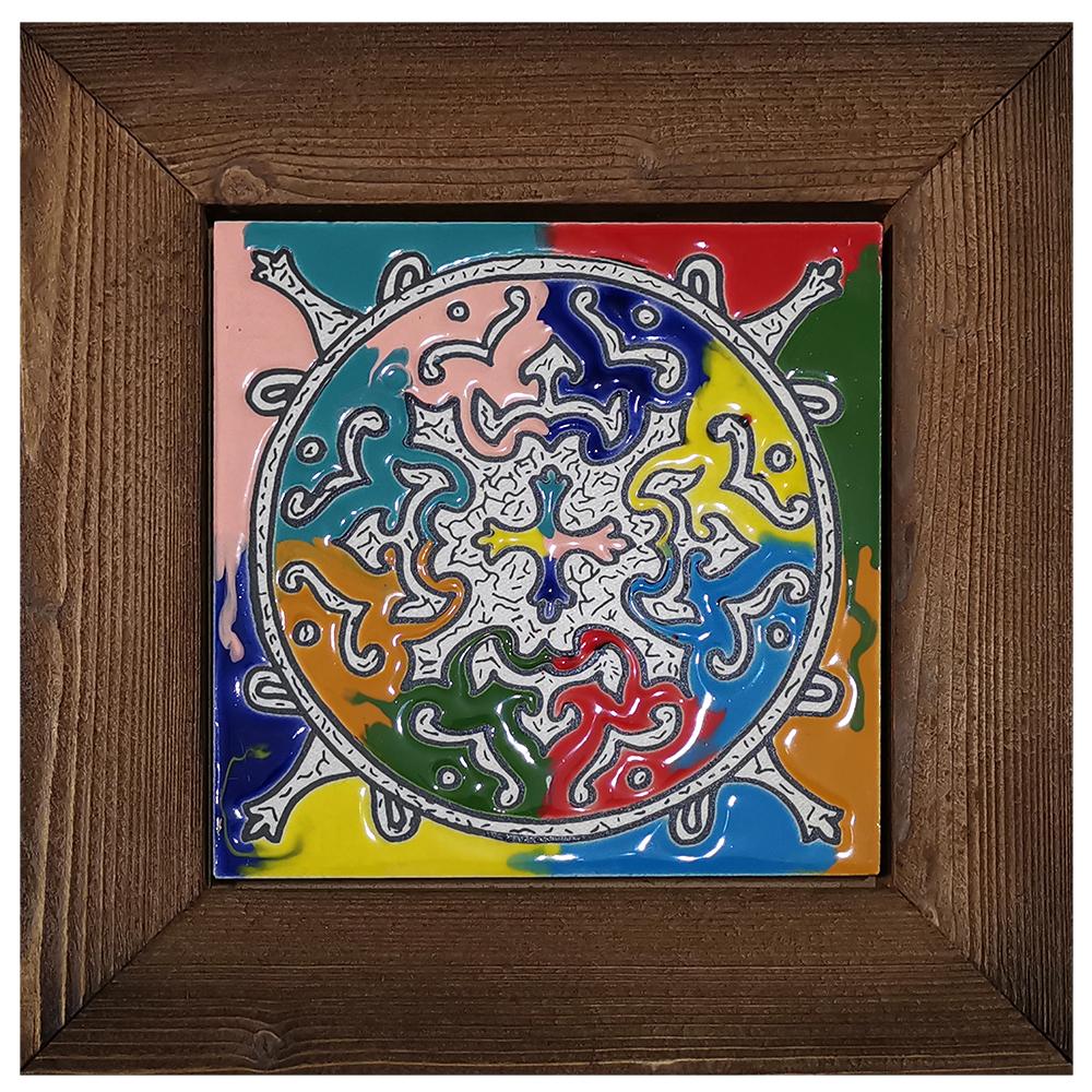 خرید                      تابلو کاشی کاری طرح شمسه چهار فصل کد KHH-4
