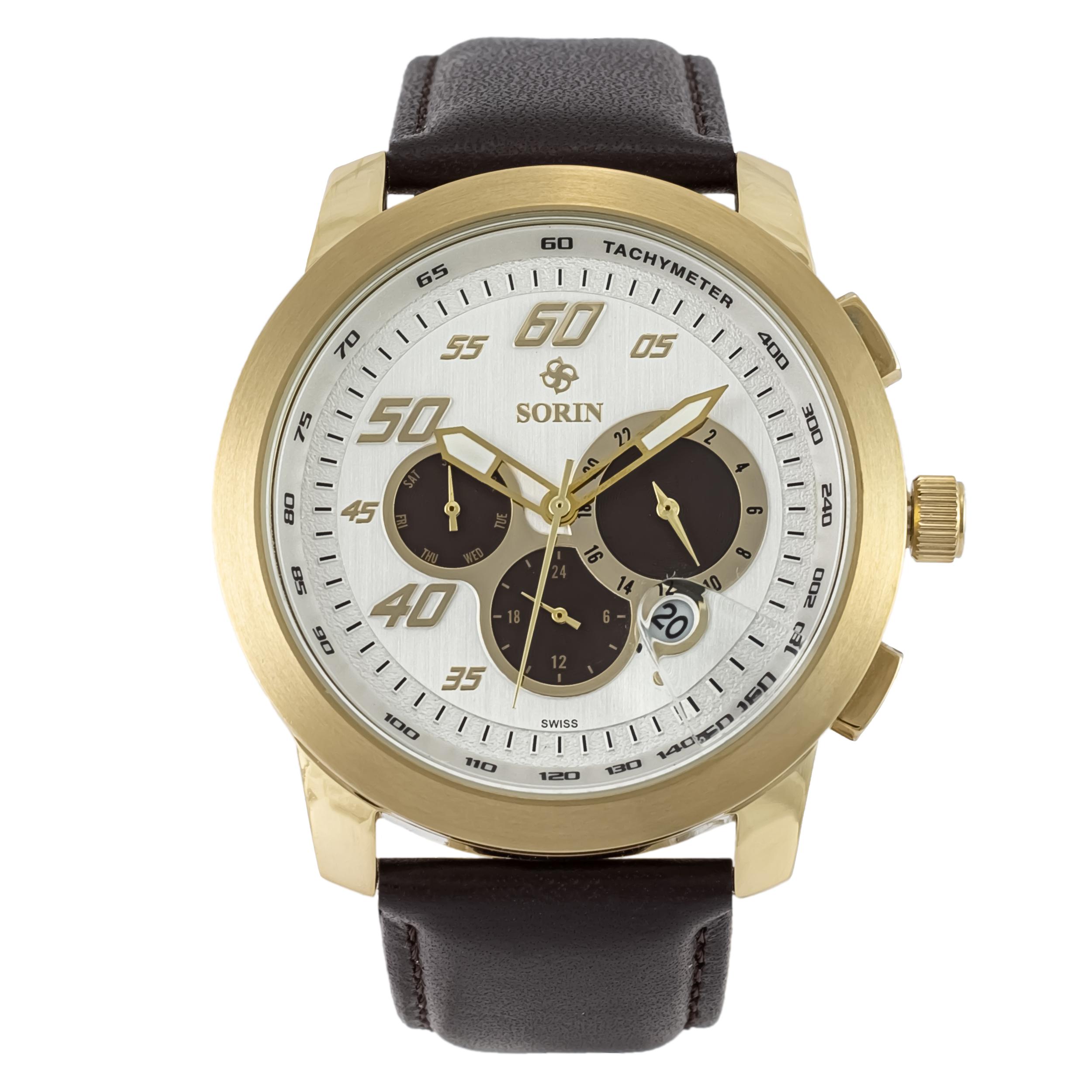 ساعت مچی عقربه ای مردانه سورین مدل SS0606G