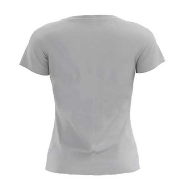 تیشرت آستین کوتاه زنانه کد N19 رنگ طوسی