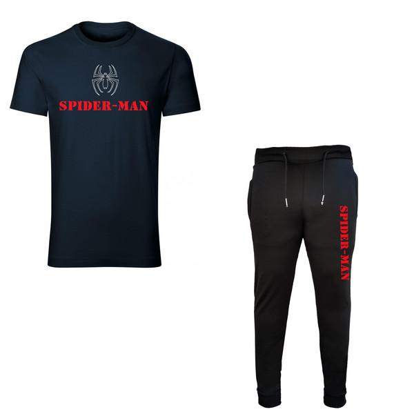 ست تیشرت و شلوار مردانه طرح SPIDER MAN کد 3567