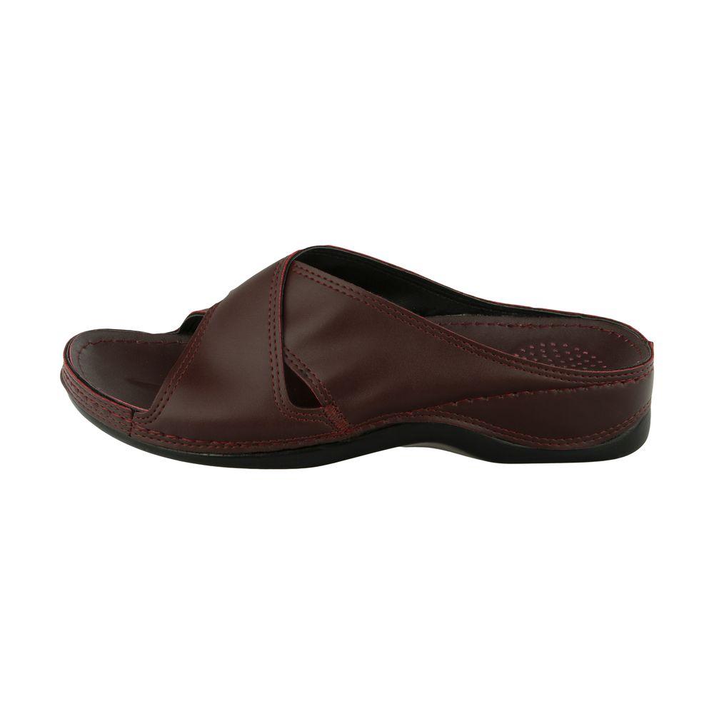 دمپایی زنانه کفش آویده کد av-0304505 رنگ زرشکی