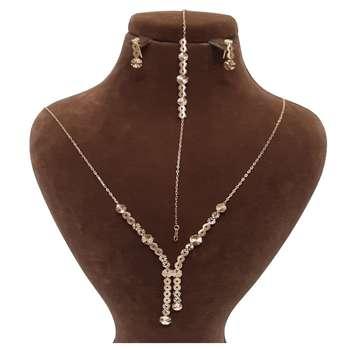 نیم ست طلا 18 عیار زنانه گالری یارطلا کد SR51