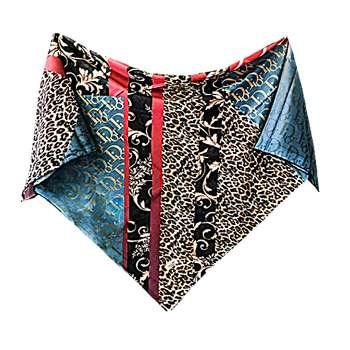 روسری زنانه ژاهو مدل حروف و پلنگی کد 00174