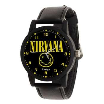 ساعت مچی عقربه ای ناکسیگو طرح Nirvana کد LF4213