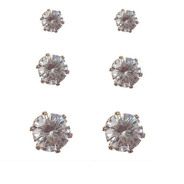 گوشواره نقره زنانه آی ام مدل 541564 مجموعه 3 عددی