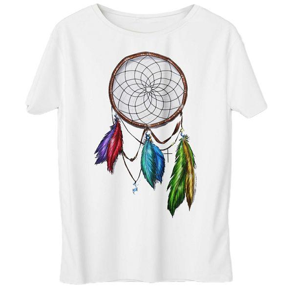 تی شرت زنانه به رسم طرح دریم کچر کد 558