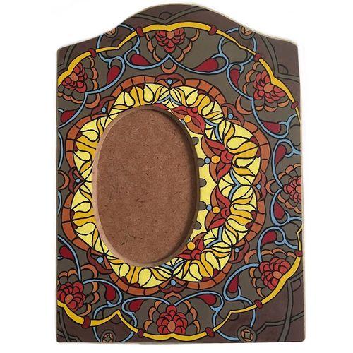 قاب عکس چوبی گالری خرمالو طرح سنتی کد789