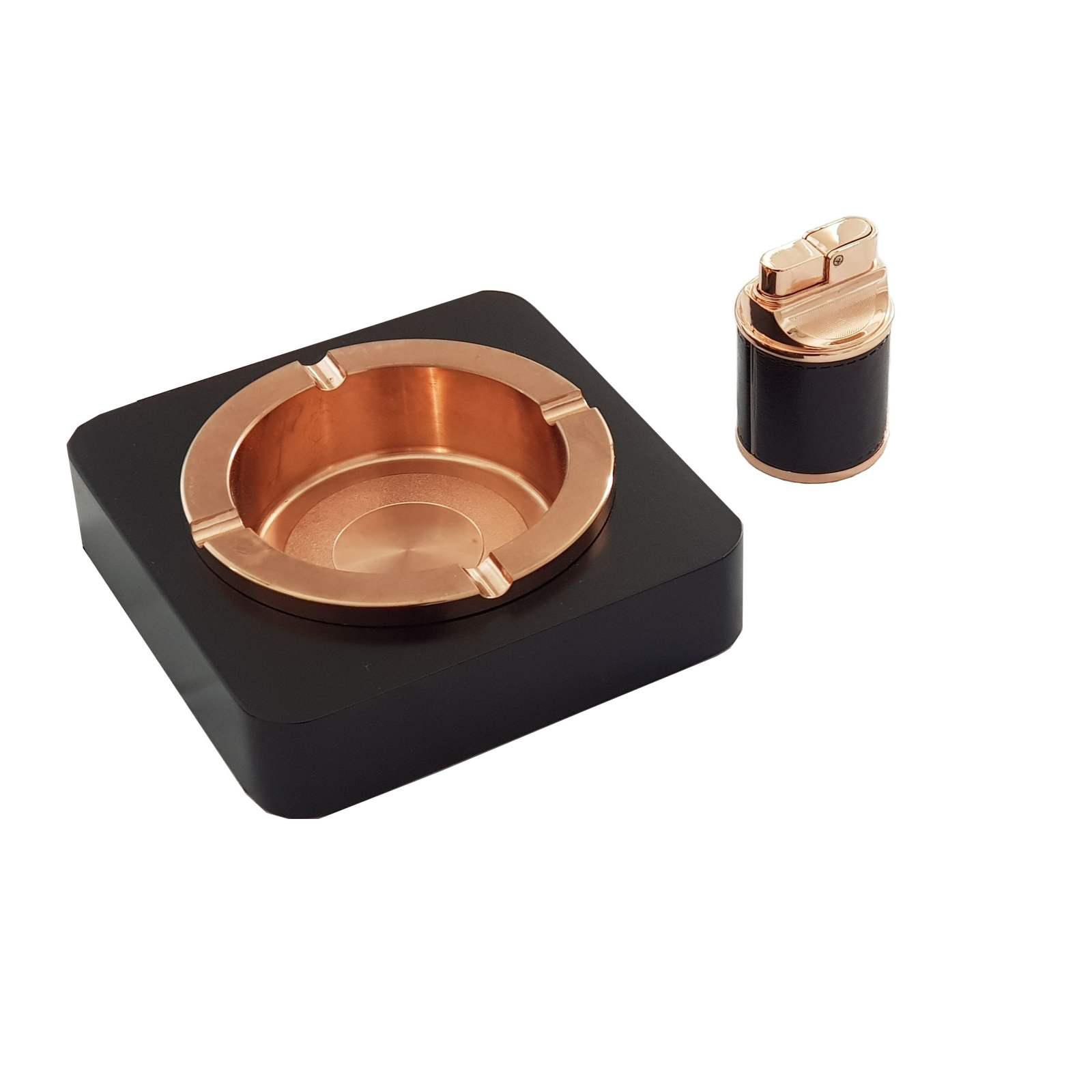 ست هدیه فندک و زیرسیگاری بورویی مدل  SN-25460