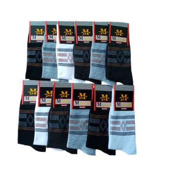 جوراب   مردانه   مدادی   طرح   لوزی   کد  15  مجموعه 12   عددی