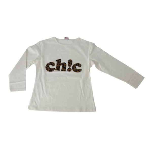 تی شرت آستین بلند دخترانه آی چیلک مدل IC060