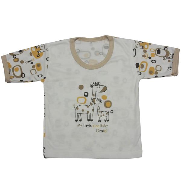 تی شرت آستین کوتاه نوزادی مدل H3502