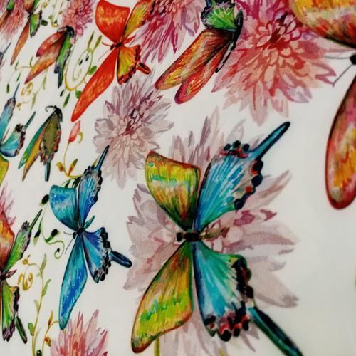 پارچه لباس مدل پروانه ای A02