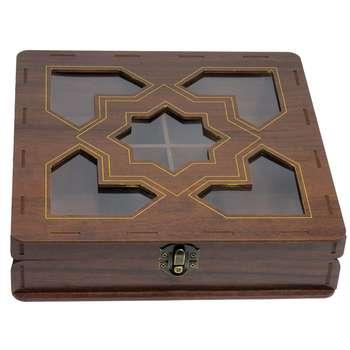 جعبه هدیه پذیرایی دمنوش و چای کیسه ای  لوکس باکس کد LB026