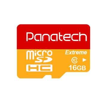 کارت حافظه microSDXC پاناتک مدل Extreme کلاس 10 استاندارد UHS-I U1 سرعت 30MBps ظرفیت 16 گیگابایت