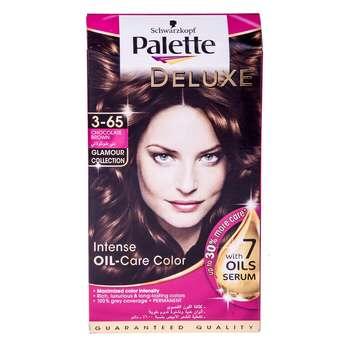 کیت رنگ مو پلت سری Deluxe مدل Chocolate Brown شماره 65-3