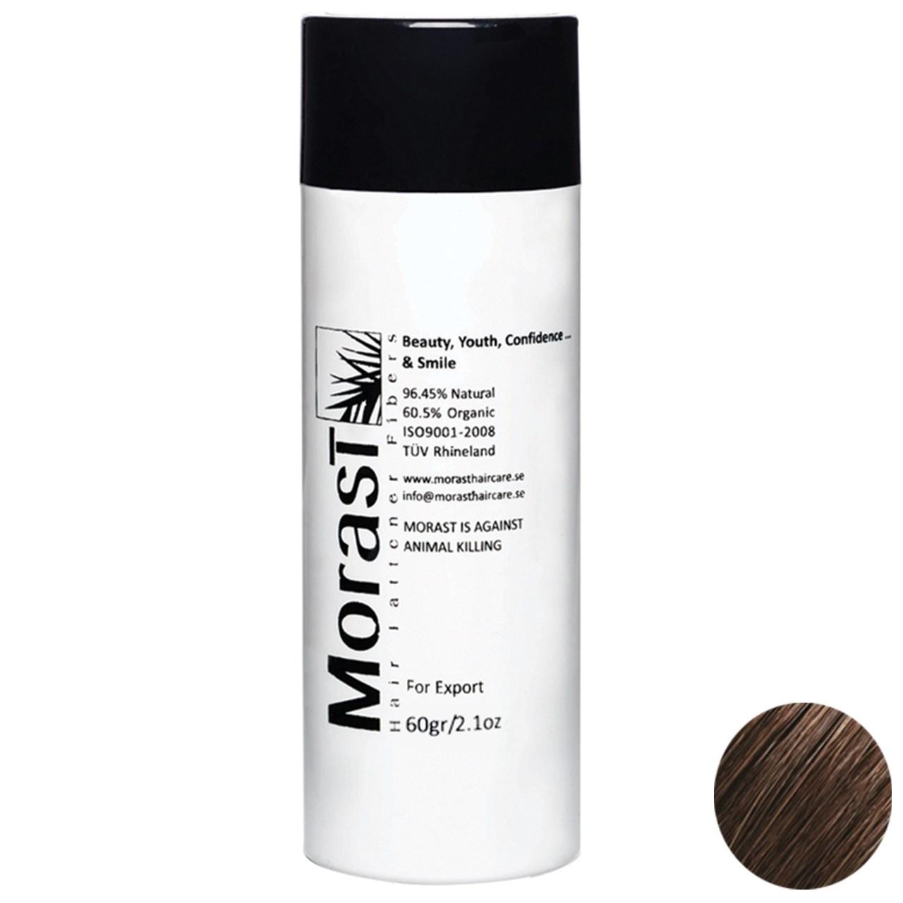 پودر پرپشت کننده موی مورست مدل Medium Brown مقدار 60 گرم