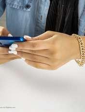 دستبند زنانه آیینه رنگی کد KR030 -  - 2