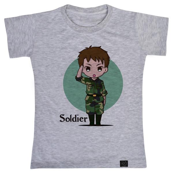 تی شرت پسرانه 27 طرح SOLDIER کد V12