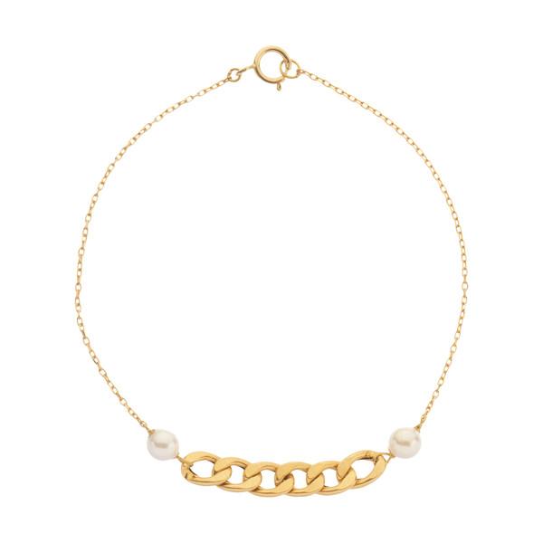 دستبند طلا 18 عیار زنانه نیوانی مدل B1011