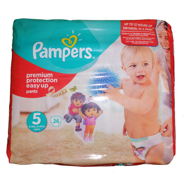 پوشک کودک  پمپرز مدل premium protection easy up سایز 5  بسته 26 عددی