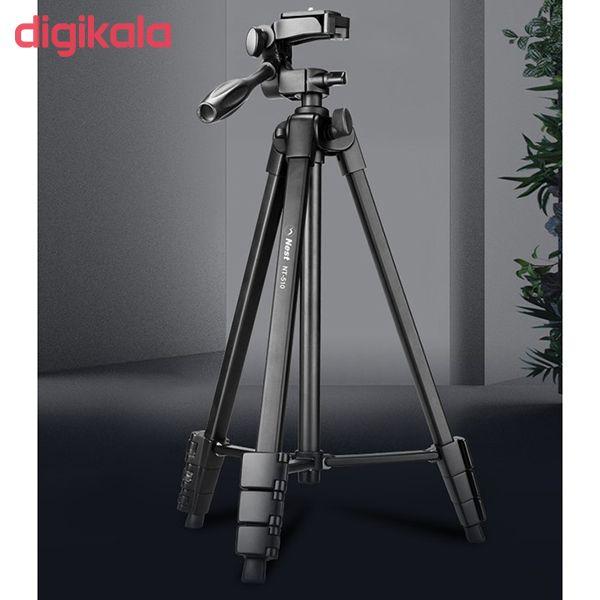 سه پایه دوربین نست مدل NT-510 به همراه گیره نگهدارنده موبایل main 1 5