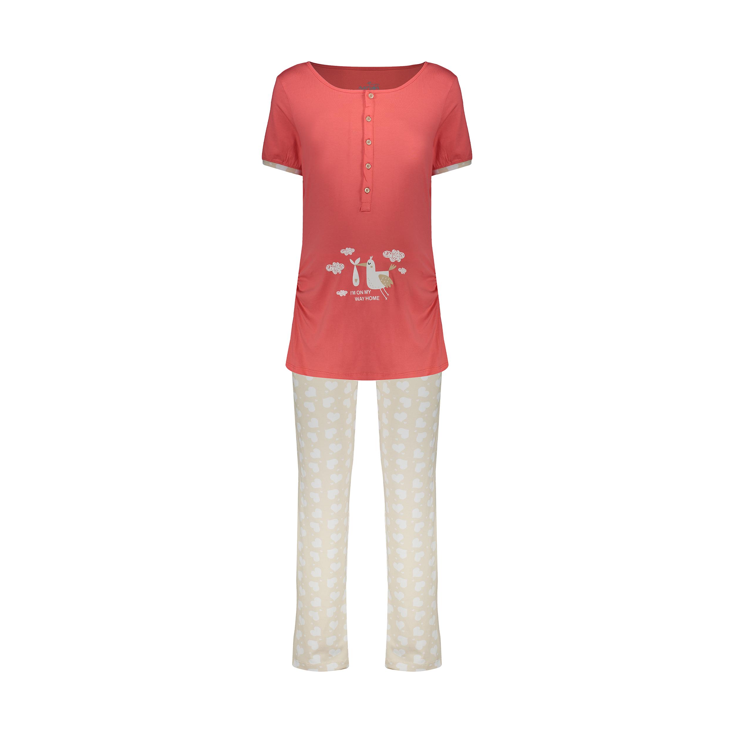 ست تی شرت و شلوار بارداری ناربن مدل 1521295-21