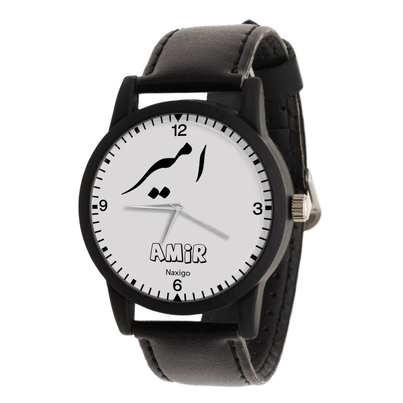 قیمت                      ساعت مچی عقربه ای مردانه ناکسیگو طرح امیر کد LF3345