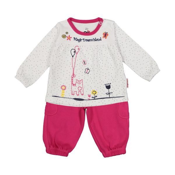 ست تی شرت و شلوار دخترانه آدمک مدل 2171146-66