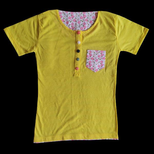 تی شرت آستین کوتاه زنانه مدل بنفشه