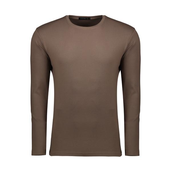 تیشرت آستین بلند مردانه ادورا مدل 26915033 رنگ قهوه ای