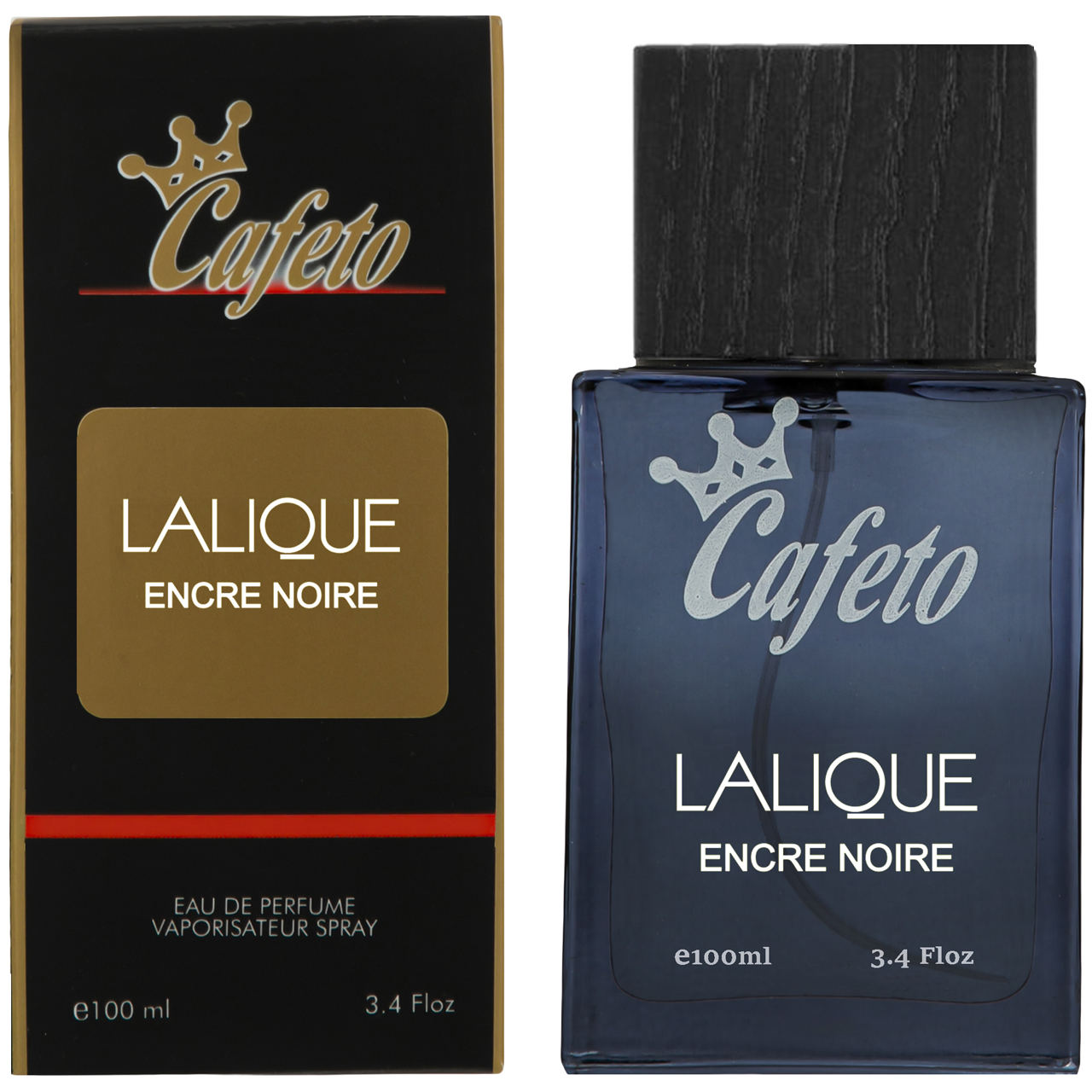 ادو پرفیوم مردانه کافه تو مدل LALIQUE ENCRE NOIRE حجم 100 میلی لیتر