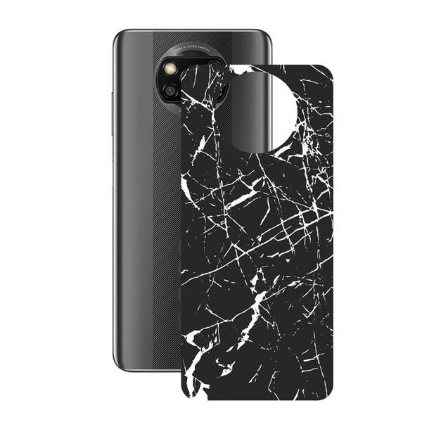برچسب پوششی راک اسپیس طرح Marble-BK مناسب برای گوشی موبایل  شیائومی POCO X3 Pro