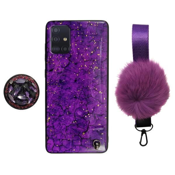 کاورکد 01 مناسب برای گوشی موبایل سامسونگ Galaxy A31 به همراه بند و پایه نگهدارنده