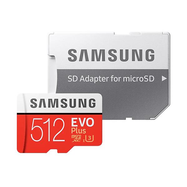 کارت حافظه microSDXC سامسونگ مدل Evo Plus کلاس 10 استاندارد UHS-I U3 سرعت 100MBps ظرفیت 512 گیگابایت به همراه آداپتور SD