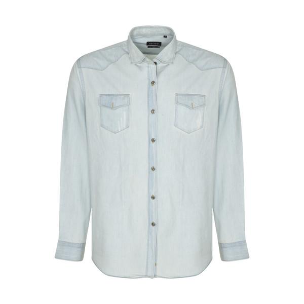 پیراهن آستین بلند مردانه ان سی نو مدل بیلی رنگ آبی روشن