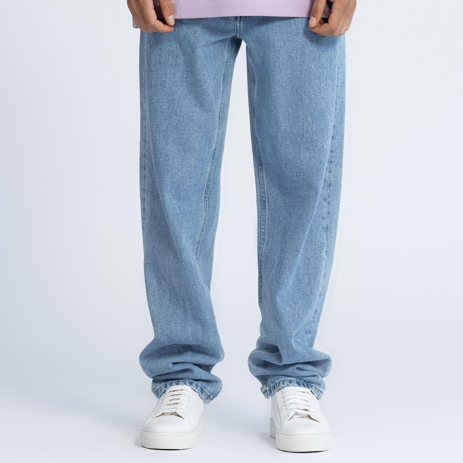 شلوار جین مردانه کوی مدل دایی رنگ آبی روشن -  - 2