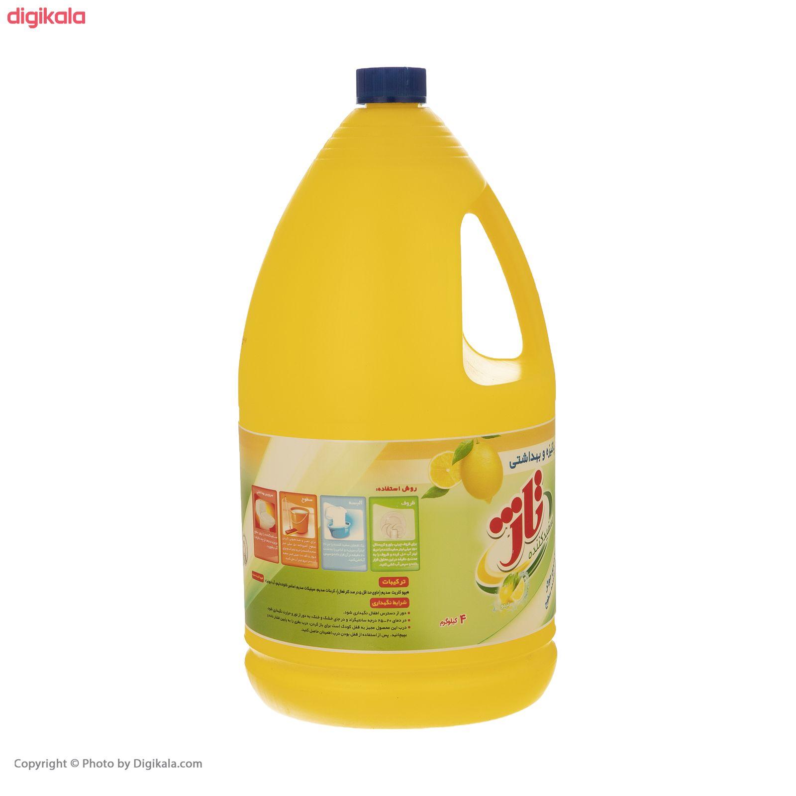 مایع سفید کننده تاژ با رایحه لیمو مقدار 4000 گرم main 1 3