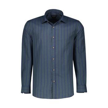 پیراهن آستین بلند مردانه ان سی نو مدل الدو رنگ یشمی