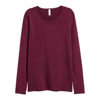 تی شرت آستین بلند زنانه اچ اند ام مدل کد 663