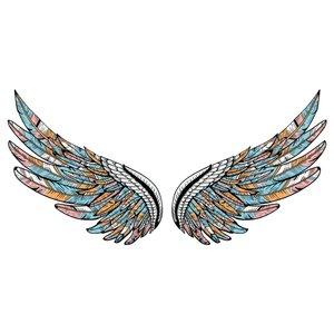 استیکر دیواری طرح بال فرشته کد 10