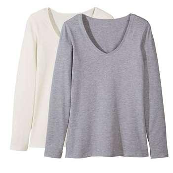 تی شرت آستین بلند زنانه اسمارا مدل 318980 مجموعه 2 عددی