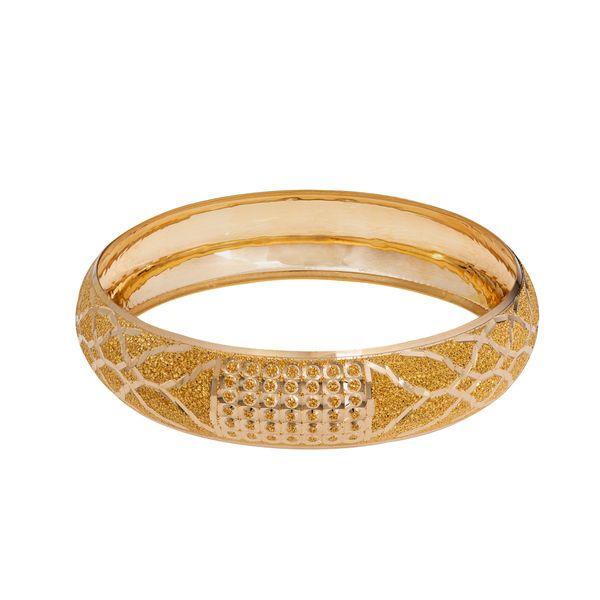 النگو طلا 18 عیار زنانه گالری یارطلا کد AL34-G-1