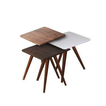 میز عسلی مدل 123 کد 20 مجموعه 3 عددی