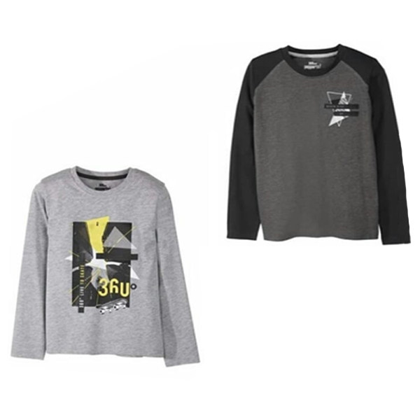 تی شرت پسرانه پیپرتس مدل 596as مجموعه 2 عددی