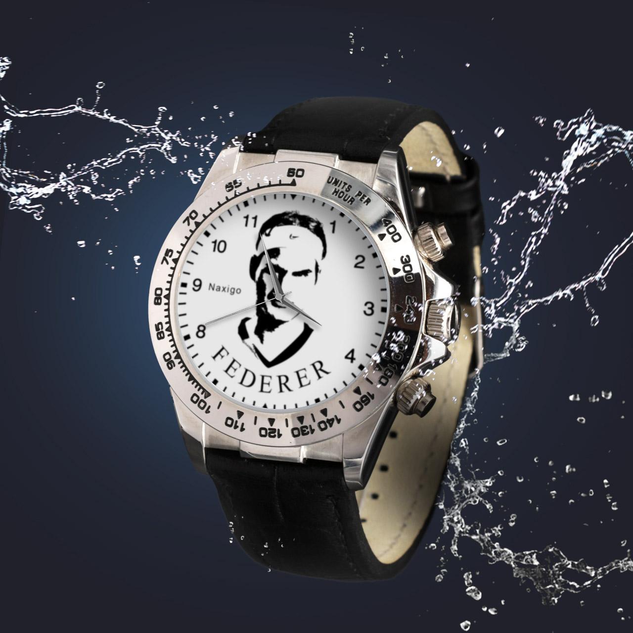 ساعت مچی  مردانه ناکسیگو طرح راجر فدرر کد LS3558