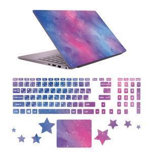استیکر لپ تاپ صالسو آرت مدل 5073 hk به همراه برچسب حروف فارسی کیبورد