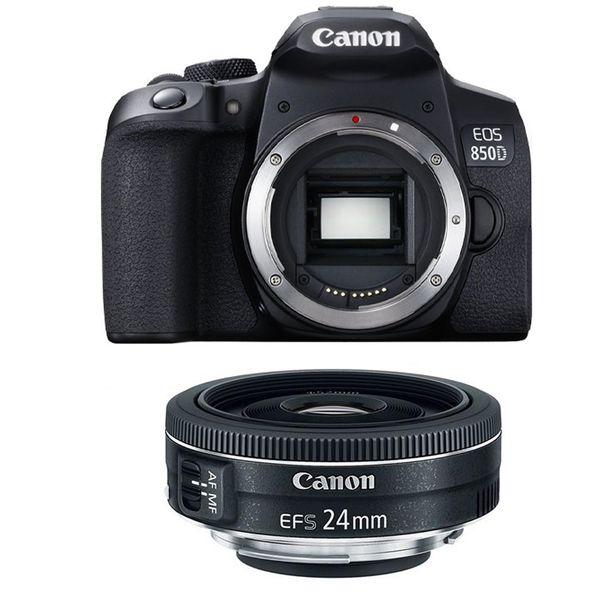 دوربین دیجیتال کانن مدل EOS 850D به همراه لنز 24 میلی متر F/2.8 STM