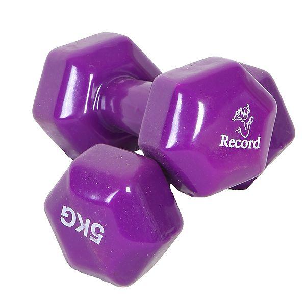 دمبل رکورد مدل A وزن 5 کیلوگرمی بسته 2 عددی