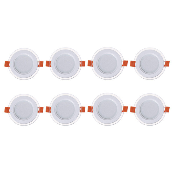 پنل ال ای دی 7 وات گرد نور مدل SH11 بسته 8 عددی
